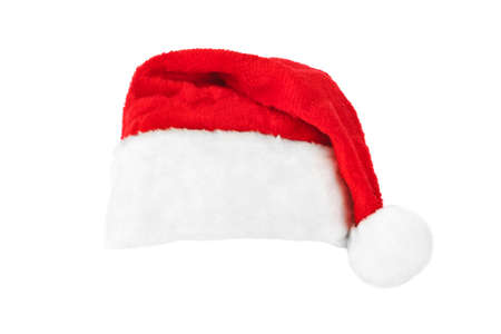 santa hat: Santa Claus red christmas hat isolated on white background
