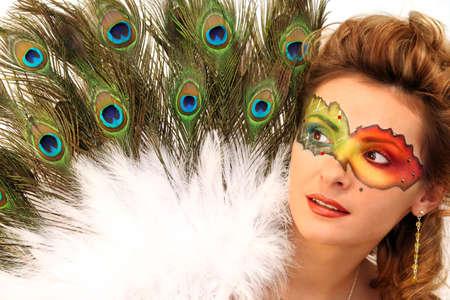 masquerader: fiesta Stock Photo
