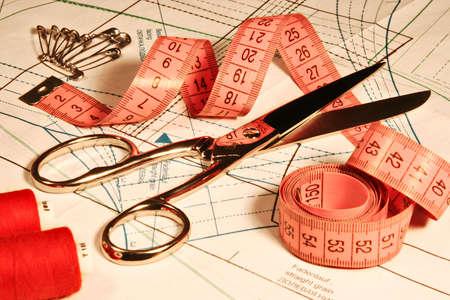cliche': accessory of the tailor Stock Photo