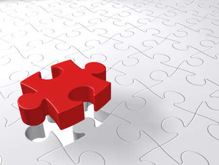 Conceptual 3D puzzle piece coming down into last free place Stock Photo - 5868293