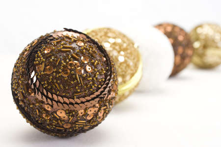 trumpery: New Years balls on white background