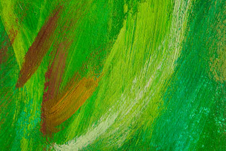 green brown hand painted texture. Artistic background. photo