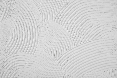 putty: Texture of bend arc line, rough crest white background