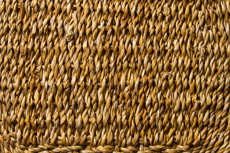 Basket wicker braid weave texture, straw reed macro background photo