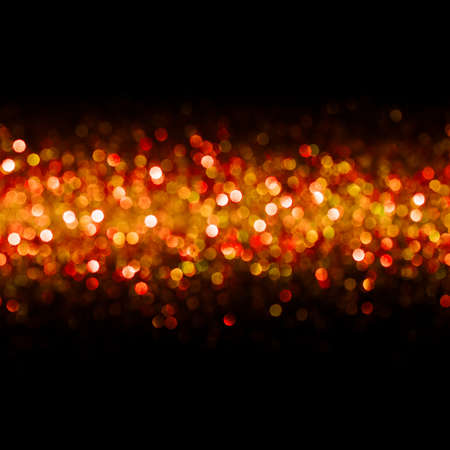 defocused: Lights Background, Abstract Seamless Blur Light Bokeh, Red Christmas Glow Dots Pattern