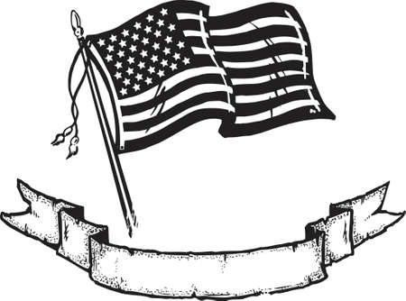 american army: American Flag & Banner Illustration