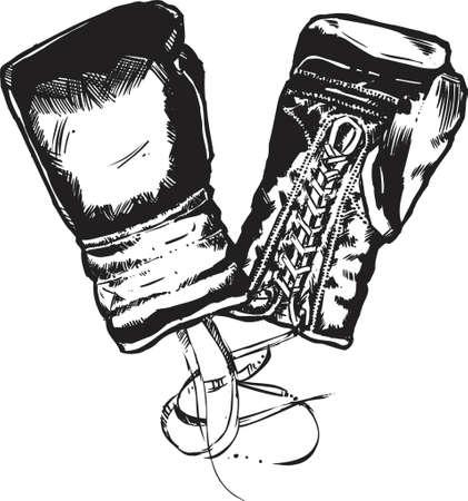 tough woman: Boxing Gloves Illustration