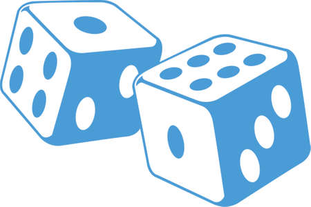 chances are: Dice vector illustration x 2