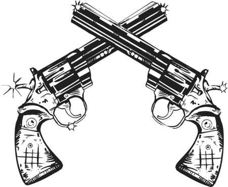 Twin Guns Stock Vector - 584500