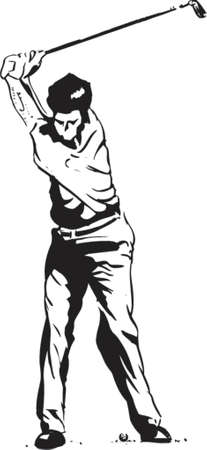 putt: The Golf Swing Pose - One of a series of instructional illustrations