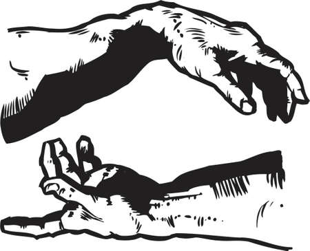 adam: The Hands of Creation - Religion Illustration