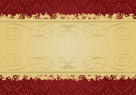 Vintage Red and Gold decorative banner vector illustration All parts are editable Stock Vector - 3212660