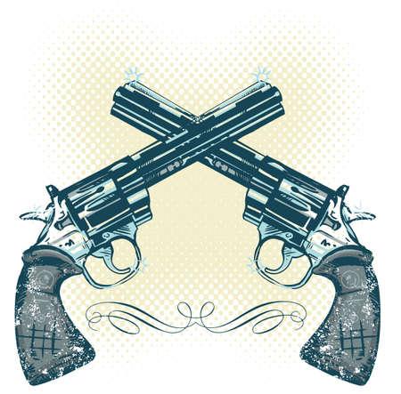 Hand guns vector illustration all parts are editable Stock Vector - 3223979