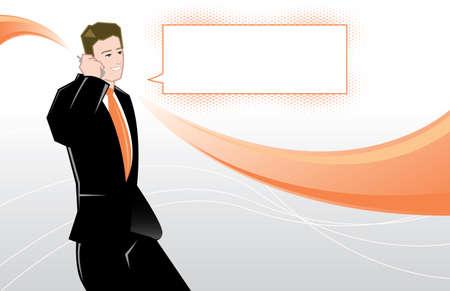 environnement entreprise: Jeune homme d'affaires illustration vectorielle Toutes les parties sont �ditables
