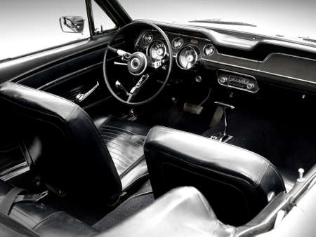 Interior of the classic sports car Stock Photo - 3254339