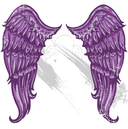 emo: Hand drawn tattoo style wings converted to vecter format All parts are editable and on seperate layers