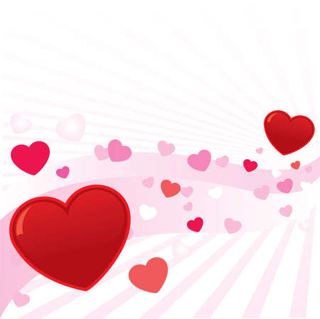 Abstract valentine hearts vector background illustration. Fully editable