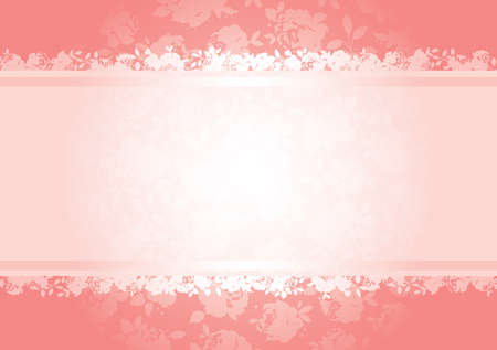 Valentines roses background pattern with copy space. All elements are separate and fully editable Vector
