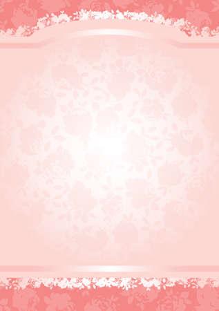 separato: San Valentino rose di fondo del modello con copia spazio. Tutti gli elementi sono completamente separati e modificabili