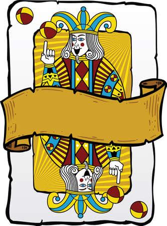 joker naipe: Carta estilo Joker ilustraci�n. Formato vectorial totalmente editable. Otros ejemplos de juego en mi tarjeta de toda la cartera.