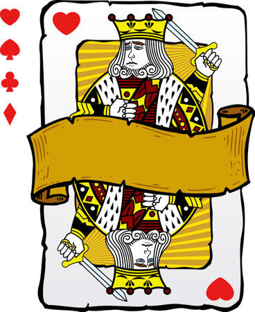 Playing card style king illustration. Vector format fully editable. Other playing card illustrations in my full portfolio. Vector