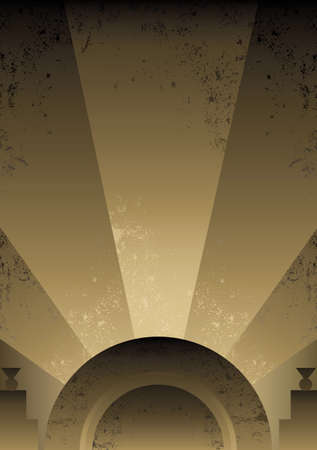 page decoration: Art Deco Futurist style background design. Vector format and fully editable Illustration