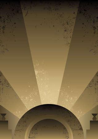 futurist: Art Deco Futurist style background design. Vector format and fully editable Illustration