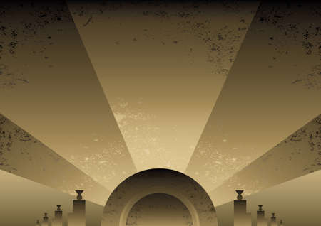 Art Deco Futurist style background design. Vector format and fully editable Illustration