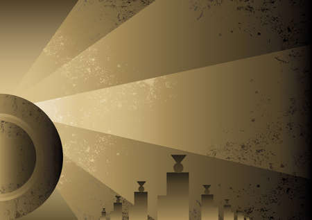 Art Deco Futurist style background design. Vector format and fully editable Vector