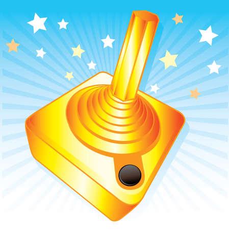 Golden joystick gamers award vector illustration. Fully editable Vector