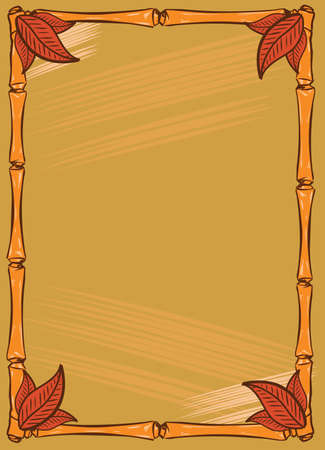 tiki party: Tiki Bar style frame design with clear space for text. Vector format fully editable Illustration