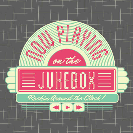 1950s Jukebox Style Logo Design  Stock Photo