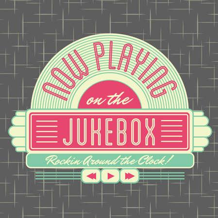 jukebox: 1950s Jukebox Style Logo Design  Stock Photo