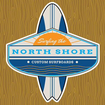 Classic Surf Design - All fonts shown are for visual purposes only and freely availalble for open license use  photo