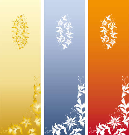 Floral Bookmark Vector