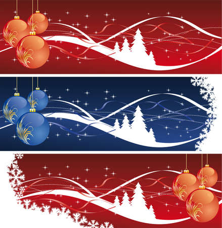 Background with balls christmas tree and decoration for your design Vector