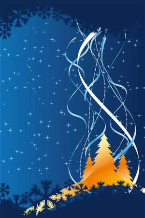Background with christmas tree for your design Vector