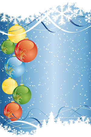ration: Vector Background with christmas tree and decoration for your design