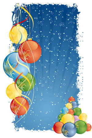 Grunge Vector Abstract Christmas and New Years background Vector