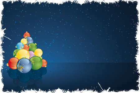 grunge vector: Grunge Vector Abstract Christmas and New Years background Illustration