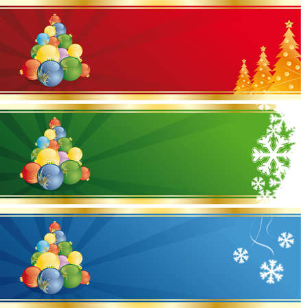 Vector Abstract Christmas and New Years banner Vector