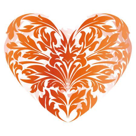 tatouage art: Stylis� Valentine's Day Heart isol� sur blanc