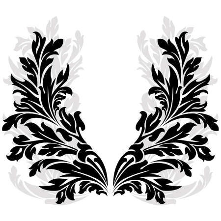 Abstract ancient floral Garland isolated on white Vector