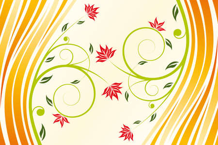 art, autumn, backgrounds, banner, beauty, red, orange, green, cd, concepts, cover, curve, decoration, drawing, dvd, elegance, element, fashion, floral, flower, graphic, grunge, illustration, image, imagery, leaf, line, old, ornament, ornate, painting, pap
