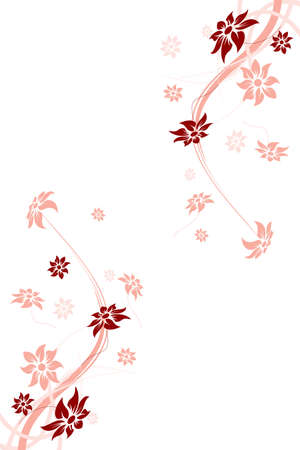Floral frame. Vector illustration. Abstract flowers. Vector