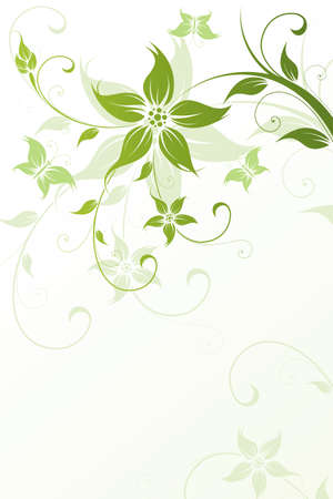 Abstract Floral Background. Vector illustration. Abstract Pattern. Vector