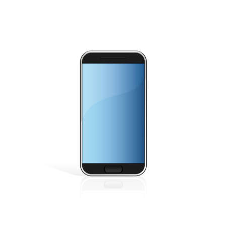 Modern black touch screen cell phone isolated on white Stock Vector - 5402763