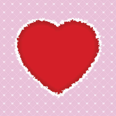 torn heart: Torn Valentines Day heart for Your desing Illustration