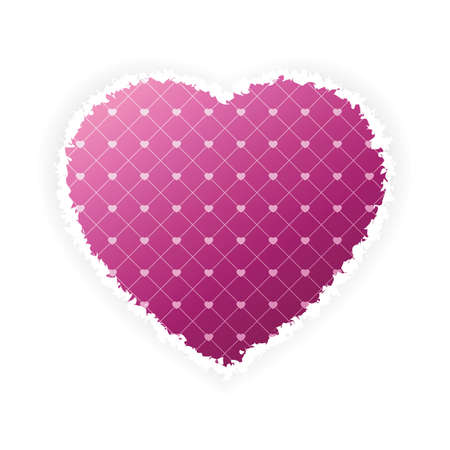 Torn Valentines Day heart for Your desing Vector