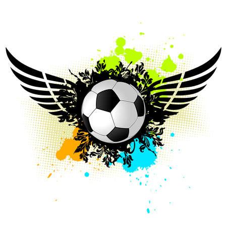kickball:  grunge illustration of a soccer ball for your design